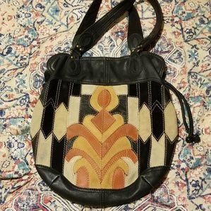 Vintage Lucky Brand boho Purse bag drawstring
